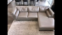 Genuine Italian leather custom sofa
