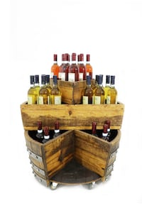 Wine Barrel Movable Minibar