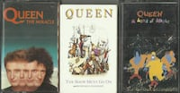 3 QUEEN Cassette Tapes - Show Must Go On - A Kind of Magic - The Miracle  Pick-up in Newmarket  (ref # Bx 3) Newmarket