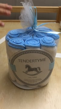 blue-and-white Tendertyme textile gift set Greater Vancouver, V6T
