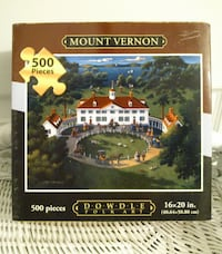 "New 500 Piece Puzzle ""Mount Vernon"" West Springfield"