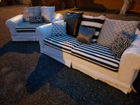 WHITE & BLACK CUSTOM SOFA & LOVESEAT SET Forest Hill, 21050