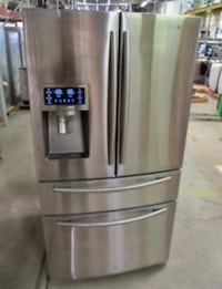 stainless steel french door refrigerator with dispenser