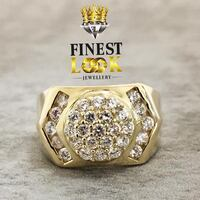 10K CLUSTER ICED OUT RING Montreal