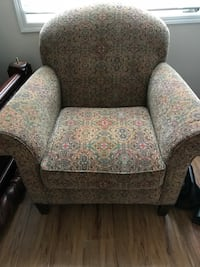 gray and pink floral fabric sofa chair West Long Branch, 07764
