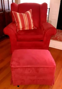 RASPBERRY COLORED GLIDER CHAIR & GLIDER FOOTSTOOL Flowood