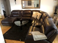 Leather sectional electric recliner Toronto, M9P 3R1