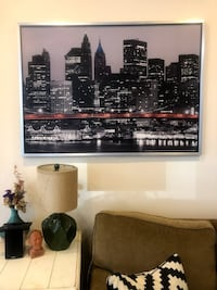 print of new york city skyline