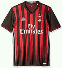 red and black adidas Fly Emirates jersey shirt Ottawa