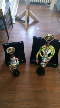 a pair of hookahs