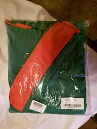 green and orange textile pack