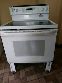 white and black induction range oven Rochester, 14621