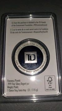 Sealed TD Bank Silver 1 oz Canada 150 Markham, L3R 1L5