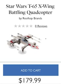 Propel Star Wars Quadcopter: X Wing Collectors Edition Box Parker, 80134