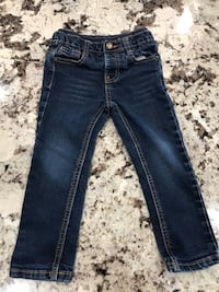 blue denim straight cut jeans Coaldale