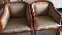 two brown wooden framed brown padded armchairs Richmond, V7E 4Y7