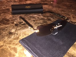 Black black Cartier buffs iced out