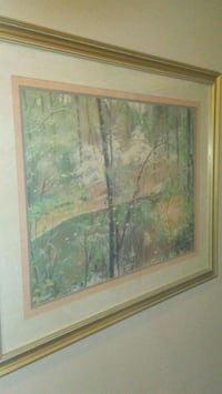 brown wooden framed painting of trees Ypsilanti, 48197