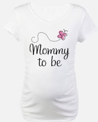 Mommy to be printed Top White Summer Maternity T-shirt ( Large ) Gaithersburg, 20879