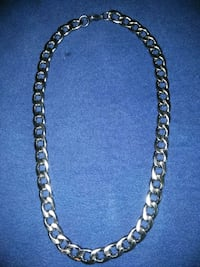Men's cubin link stainless steel necklace