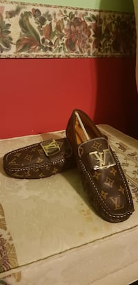 pair of brown leather loafers 18 mi