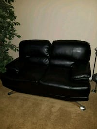 black leather padded sofa chair Brandywine, 20613