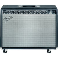 black and gray Fender guitar amplifier Corona