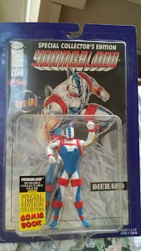 Youngblood action figure and comic book