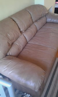 brown leather 3-seat sofa Edmonton, T5H 1G7
