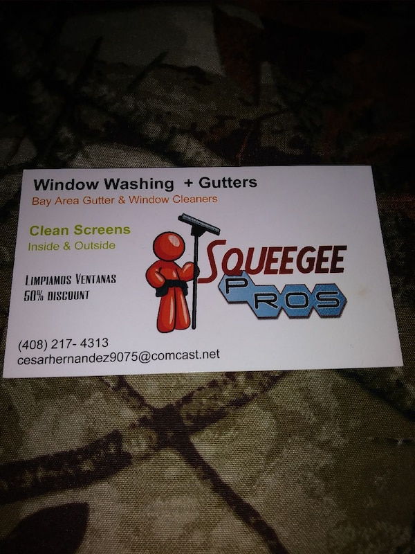 Used Window Washing Gutters Business Card For Sale In San Jose Letgo