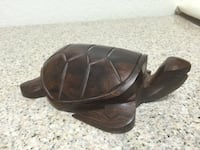 Seri Mexican Hand Carved Wooden Turtle