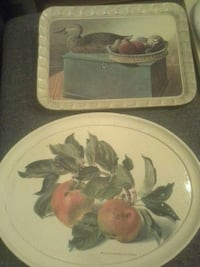 Vintage easter serving tray hand painted Italian toleware tv tray Las Vegas, 89149