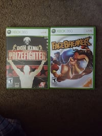 Xbox 360 games $3ea or $5 for both Longview, 75602