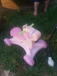 toddler's pink and purple horse