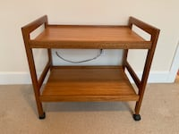 MCM Teak Two Tier Tea Tolley Made in Denmark Vancouver