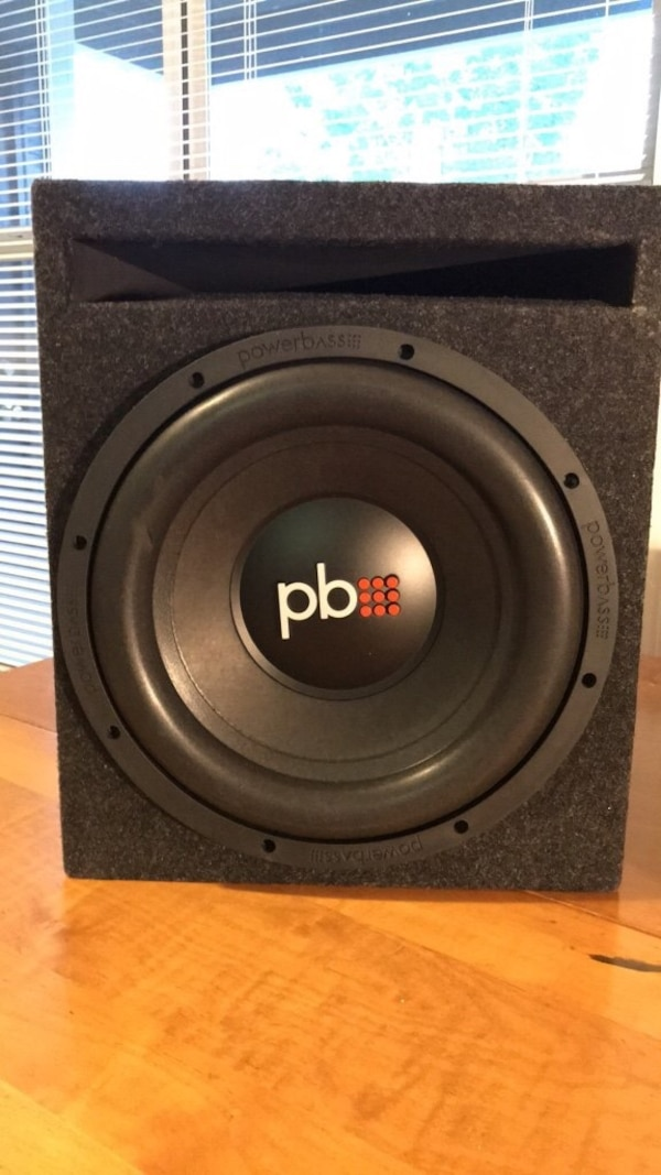 "PowerBass 12"" Subwoofer w/ Vented Box"