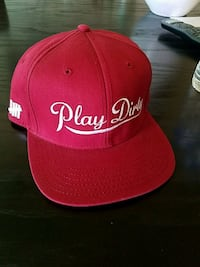 red and white fitted cap Huntington Beach, 92647