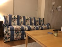 selling couch ($50 obo) also have 2 gray slip covers and can throw in coffee table if you want! Arlington, 22203