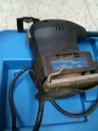 black and blue power tool