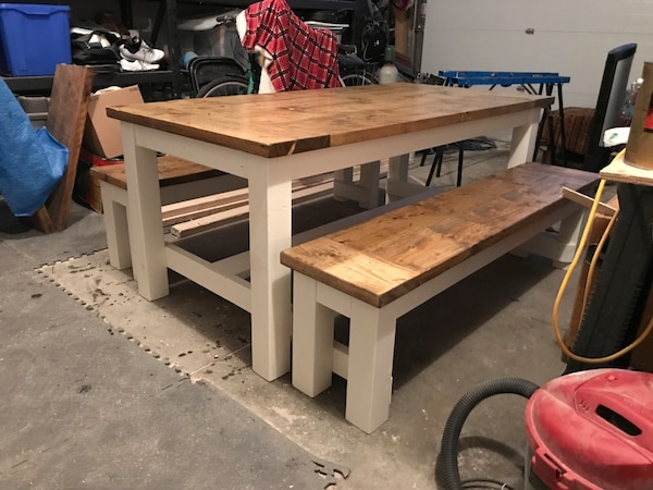 Pleasing Country Harvest Table And Benches Alphanode Cool Chair Designs And Ideas Alphanodeonline