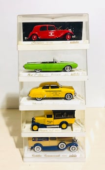 Vintage Solido France Die Cast Metal (5) Cars lot 1/43 Scale