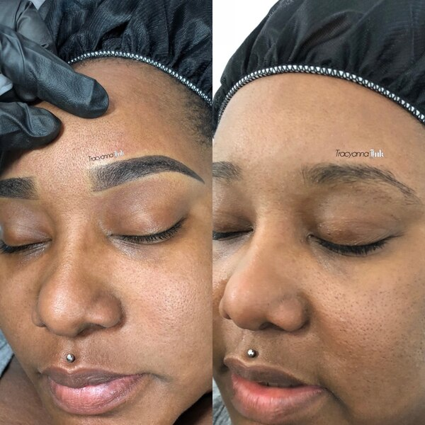 Permanent Cosmetic Ombré Shading Eyebrow Artist 1