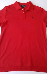 Ralph Lauren Polo Shirt Red Size L 14-16 Used Once