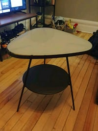 Modern Glass and iron Ikea Side Table  Ottawa, K1N 5G4