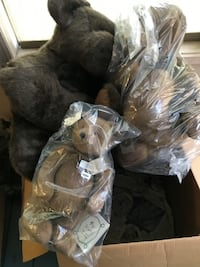 New Large, Medium and Small Boyds Teddy Bears with tags and labels HOUSTON
