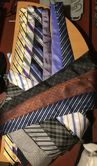 Men's tie collection.