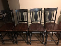 Real wood counter height chairs