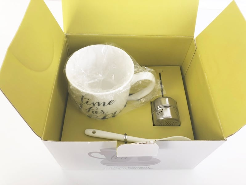 Tea Cup/Mug Set with Tray and Infuser from Indigo 8027d8db-dd48-407c-b715-bb013df13f67