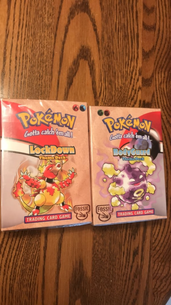 Pokémon Fossil Theme Deck Bundle: BodyGuard and Lockdown UNOPENED 0
