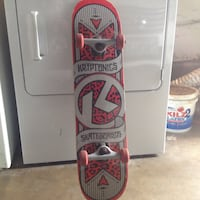 white and red snowboard with bindings Tustin, 92780